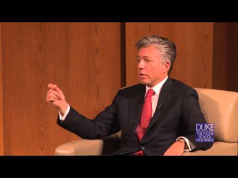 Bill McDermott speaks at Duke University's Fuqua School of Business