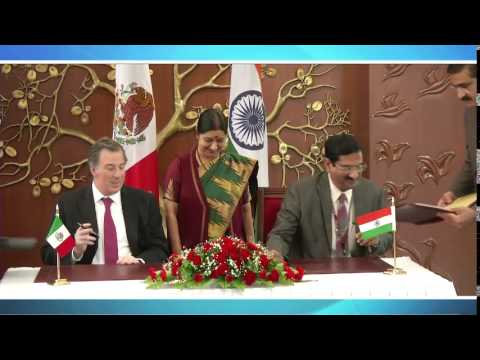 Visit of Foreign Minister of Mexico: Signing of MoU/Agreements