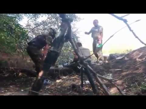 18+ Минометный удар Диверсионной группы ВСУ