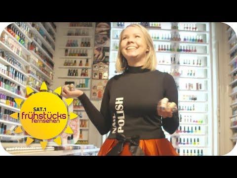 Über 10.000 Flaschen Nagellack! Frau gibt monatlich 200 Euro aus! | SAT.1 Frühstücksfernsehen | TV