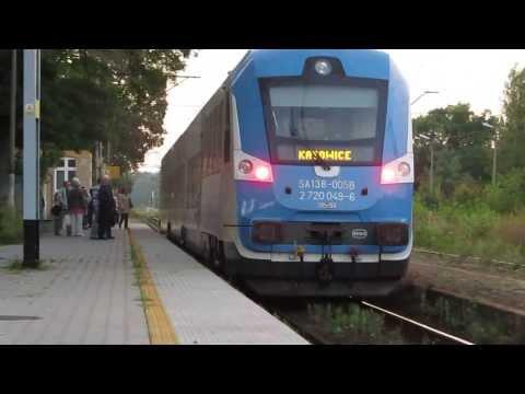 Pociągi osobowe Koleji Sląskich na Stacji KOSZĘCIN [ 27.08.2013 ]
