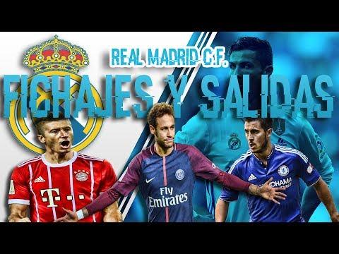 FICHAJES Y SALIDAS DE REAL MADRID 2018/2019 | NEYMAR HAZARD SALAH thumbnail