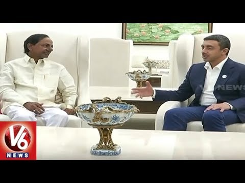 UAE Foreign Affairs Minister Meets Telangana CM KCR | UAE Consulate In Hyderabad | V6 News