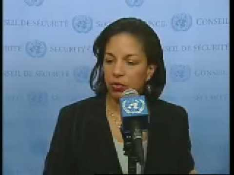 U.S. UN Ambassador Susan Rice on Darfur