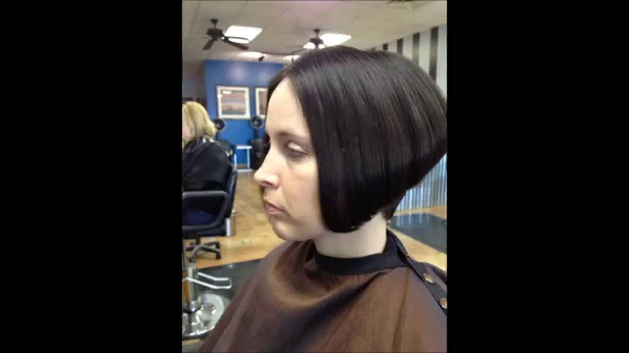 Hair Makeover Long To Graduated Bob Haircut Youtube