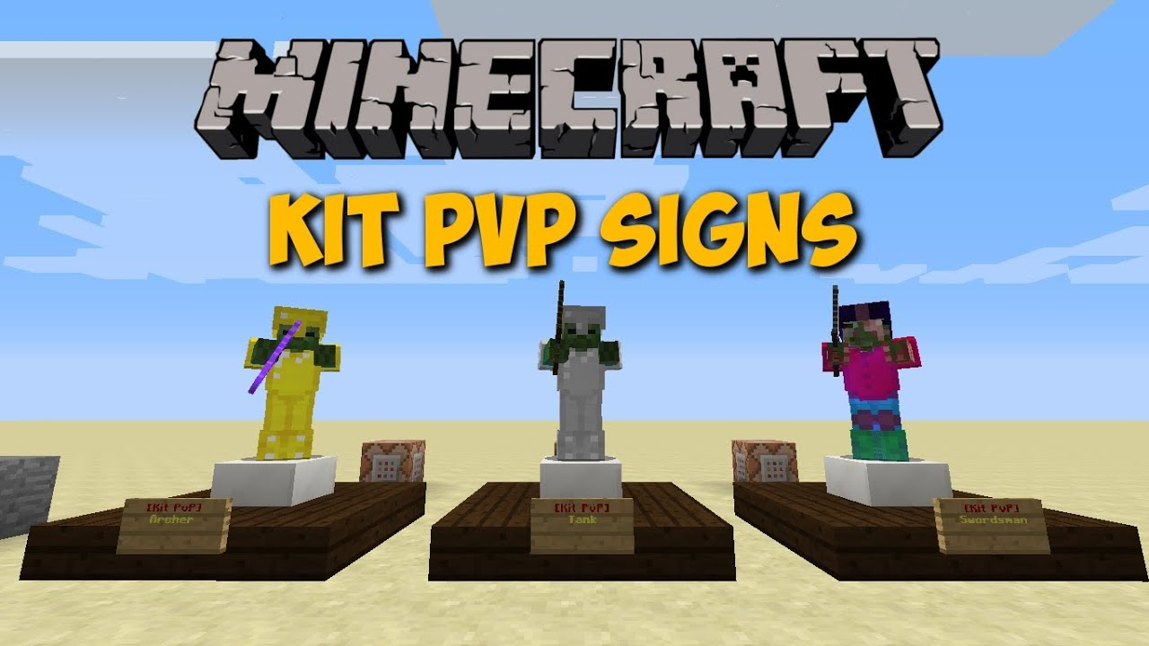 Minecraft Kit Pvp Signs in