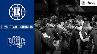 Clippers Full Highlights vs. Orlando Magic | Honey Highlights
