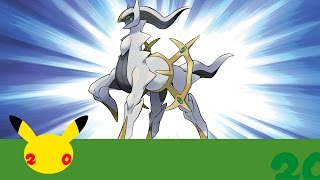 Celebrate #Pokemon20 with the Mythical Pokémon Arceus!