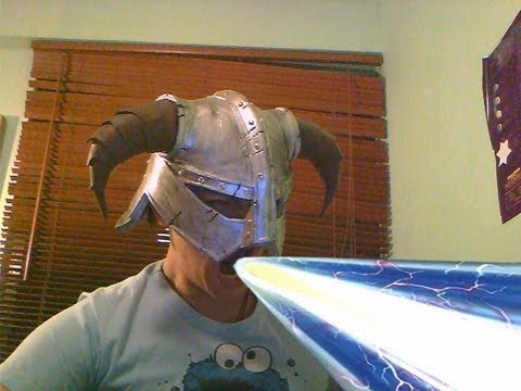Skyrim Iron Helmet foam building tutorial - Dovahkiin