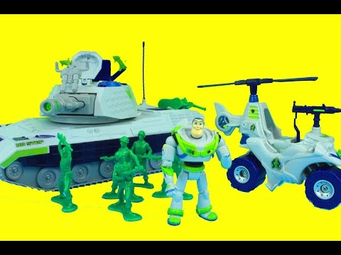 Toy Story Disney Store Exclusive Buzz Vehicle Playset Buzz Lightyear Fires at Zurg