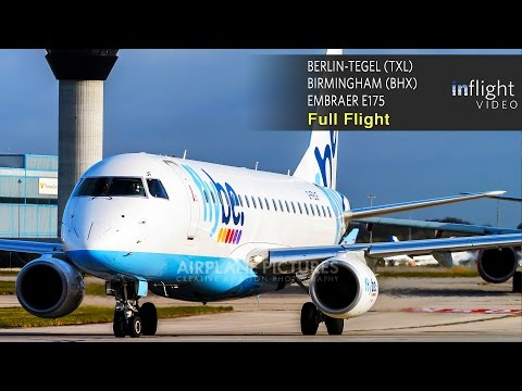 Flybe BE1859 Full Flight - Berlin Tegel to Birmingham (Embraer E-175)