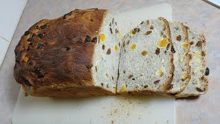 Sweet Spicy Fruit Loaf in the Breadmaker and Oven