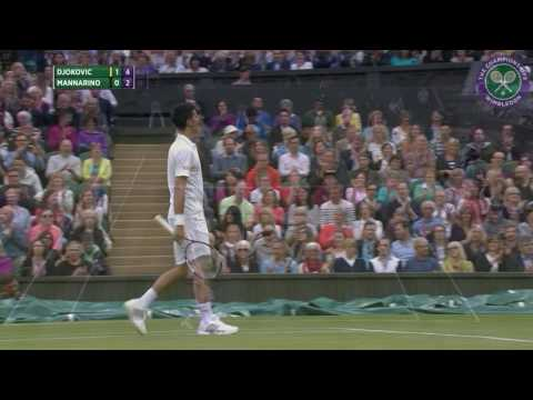 2016, Day 3 Highlights, Novak Djokovic vs Adrian Mannarino