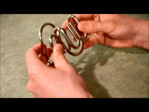 Double M Metal Ring Puzzle SOLUTION