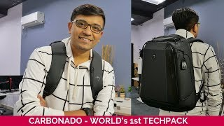 Carbonado TechPack Unboxing - Backpack from Indian Startup