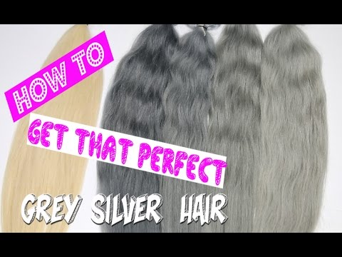 How to get grey / silver hair / 6 ways. Full step by step tutorial