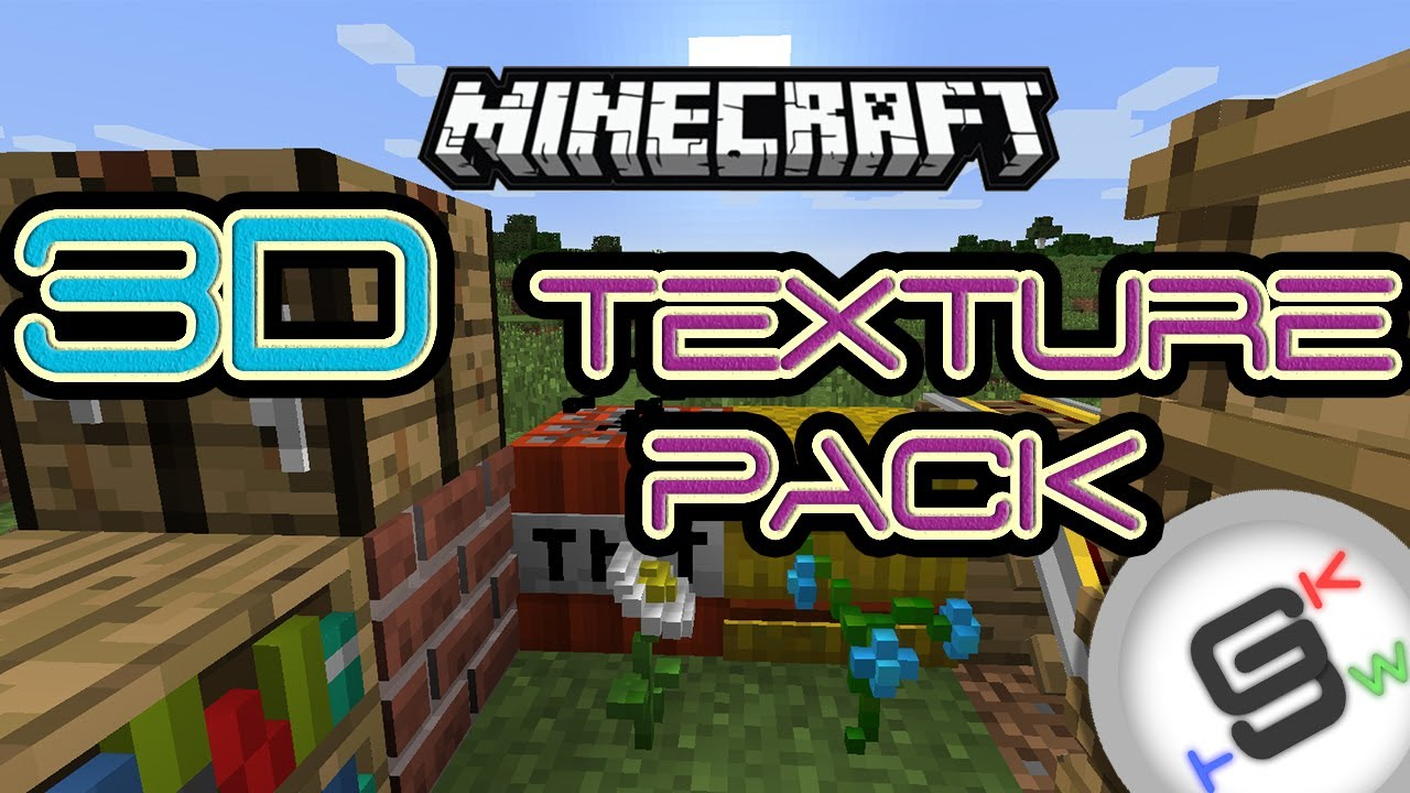 Minecraft 1.8 BEST 3D Resource Pack (AMAZING!) + Installer Snapshot |FR - Full HD| - YouTube