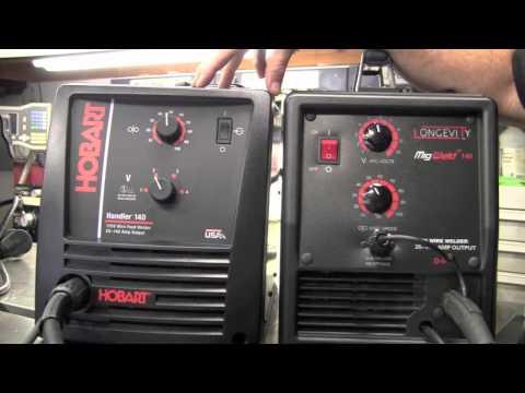 HOBART HANDLER 140  vs LONGEVITY MIGWELD 140 - 140 AMP 115 VOLT MIG WELDER REVIEW PART 1 of 2