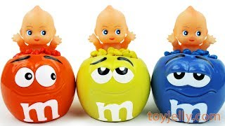 Learn Colors M&M's Surprise Cups Kinder Joy Chocolate Surprise Eggs Baby Nursery Rhymes for Kids