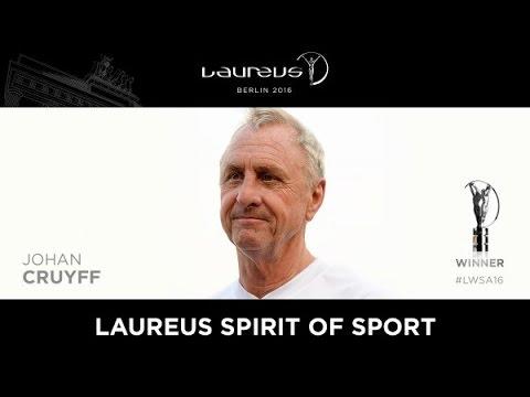 Johan Cruyff: Laureus Spirit of Sport Award