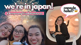 #AnnyeongTrioAdventures IN JAPAN! STAYED IN A CAPSULE HOTEL + FIREWORKS! | Relisa Abaca