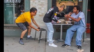Chair Pulling Prank in Los Angeles!