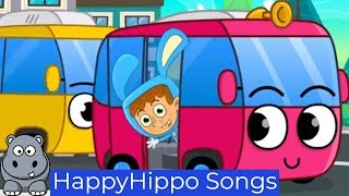 The Wheels on the Bus Childrens Nursery Rhymes & Baby Songs Happy Hippo