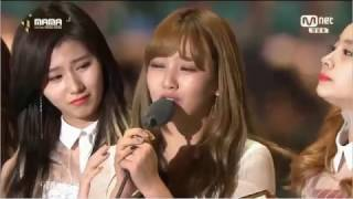 161202 TWICE wins Song of the Year (Cheer Up) 2016 亞洲音樂頒獎典禮