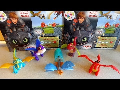 Coll. 2: 2014 McDonald's Poland How To Train Your Dragon 2 Movie Happy Meal Toys Unboxing