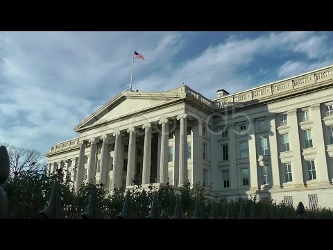U.s. Treasury Department Building In Washington, Dc.. Stock Footage