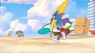 Tom and jerry    spiky on beach episode    cartoon series