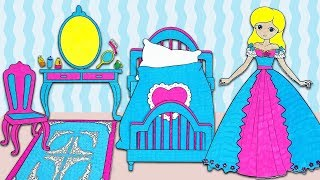 Paper Doll In Her Princess Bedroom 👸