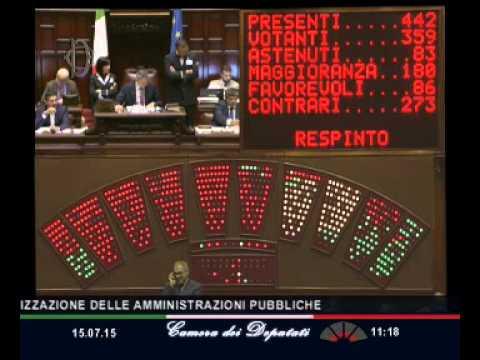 Roma - Camera - 17^ Legislatura - 462^ seduta (15.07.15)