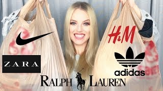 TRY ON THRIFT HAUL | Huge Winter 2017 Clothing Haul