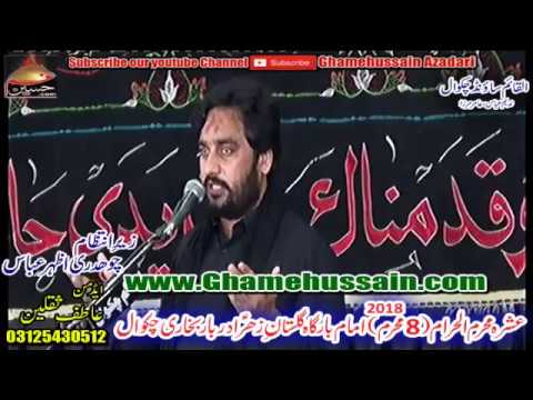 Zakir Waseem Abbas Baloch | 8th Muharram 2018 | Imambargah Gulistane Zahra Darbar BUkhari Chakwal