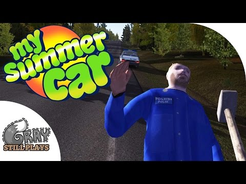 Fighting with the Police?! Resisting Arrest, Crazy Crashes - My Summer Car Gameplay Highlights Ep 14