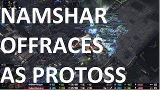 Starcraft 2 - Offracing Pro! - PvZ - Namshar vs Railgan on Acid Plant