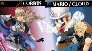 Super Smash Bros. Ultimate - Corrin VS Mario/Cloud - HD Gameplay