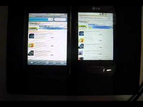 iPod 3th Gen vs LG Optimus One froyo 2 2 Browser Fighting