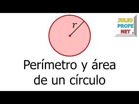 Perímetro y área de un círculo