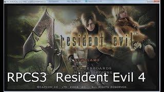 RPCS3 PS3 Emulator Resident Evil 4 HD gameplay [NPUB30312]