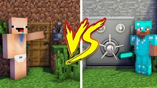 MINECRAFT - NOOB VS PRO: SECRET BASE (Secret Bunker)