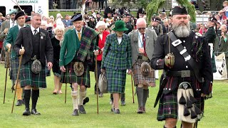 Military guard of honour for arrival of 100 year old Chieftain to Ballater Highland Games in 2019