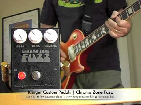 Klinger Custom Pedals:  Chroma Zone Fuzz with Les Paul and Bassman