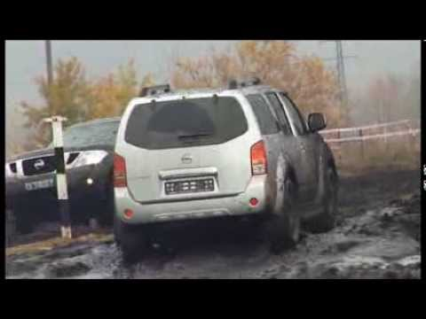 Nissan Pathfinder, тест на полигоне