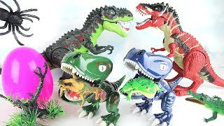 Dinosaur Babies With Dinosaur Eggs! Eating Everything Scary Dinosaur Story! Fun Toys Video For Kids~