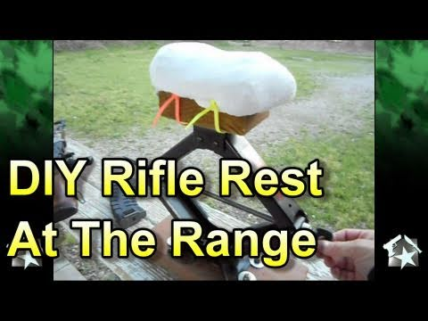 Homemade Rifle Rest At The Range