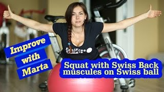 Back muscules on Swiss ball - Improve with Marta