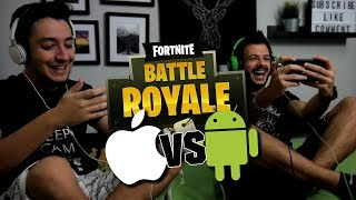 FORTNITE ΣΕ ANDROID VS FORTNITE ΣΕ iOS | LPNoobs #1