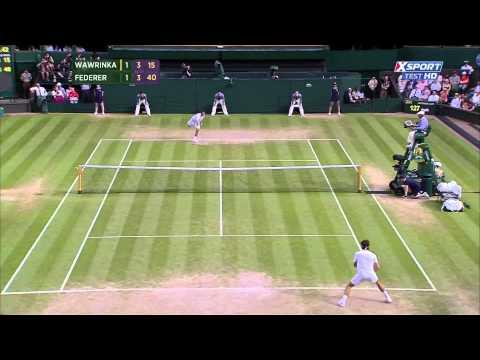 Federer vs Wawrinka Wimbledon 2014